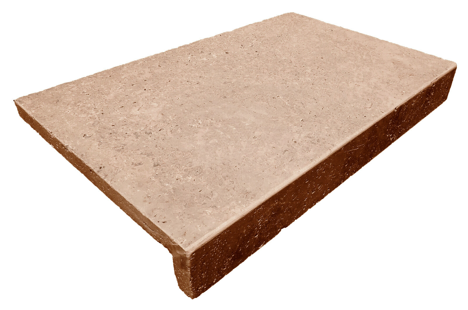 NOCE TRAVERTINE DROP FACE POOL COPING TILE