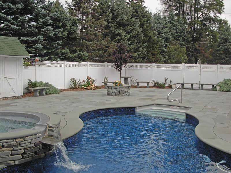 Pool Coping Tiles in Harkaway Bluestone