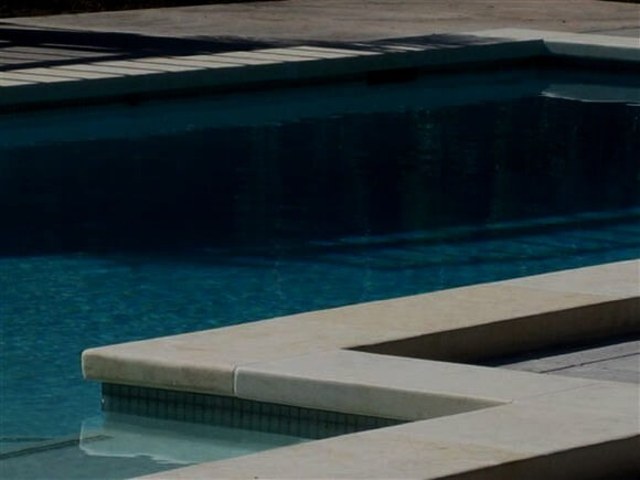Classic Travertine drop face pool coping tiles