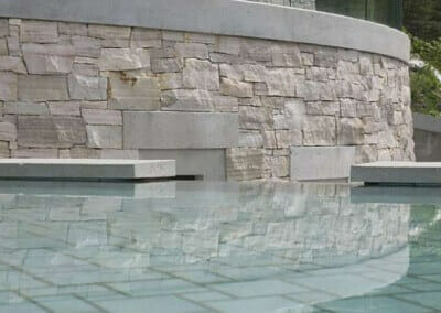 TRAVERTINE WATER FEATURE STONE CLADDING