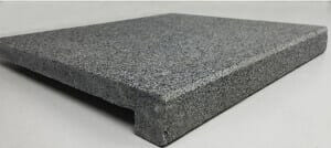 pool coping tiles Raven granite drop face