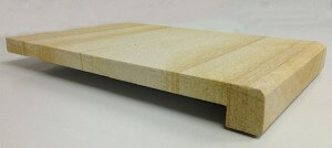 pool coping tiles teakwood sandstone drop face