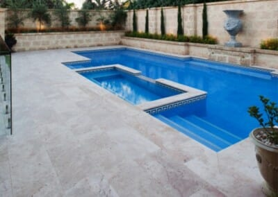 TRAVERTINE POOL COPING AND POOL PAVERS