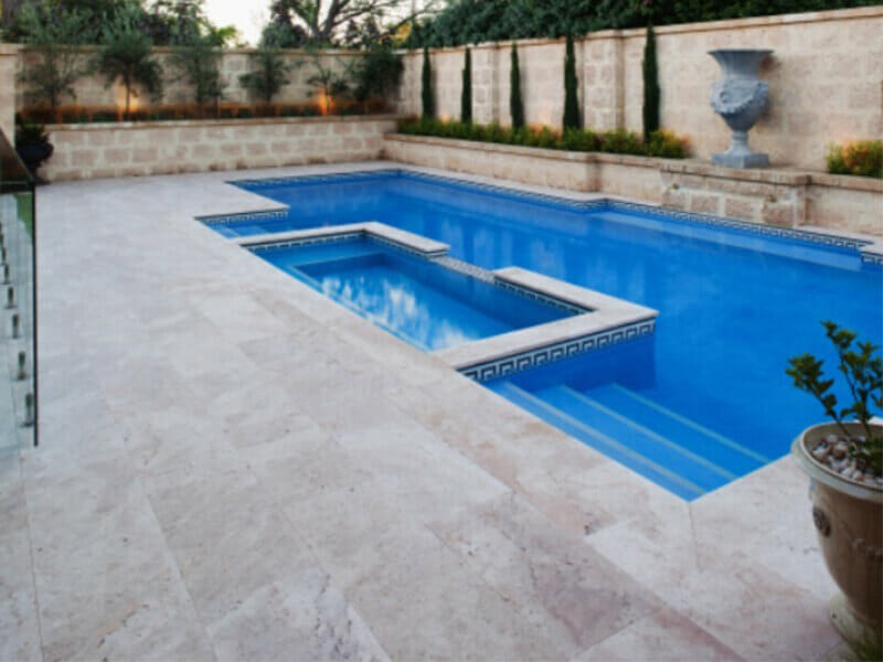 Pool Coping tiles travertine limestone