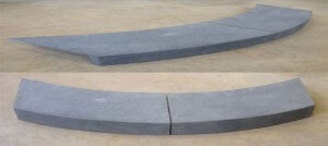 pool coping tiles custom made curved