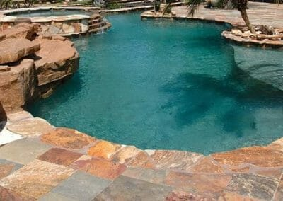 Kadadu slate pool coping and paving