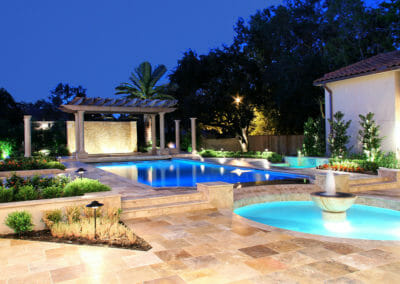 Travertine Paving Pool
