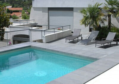 Drop Face Harkaway Blue Stone pool coping tiles