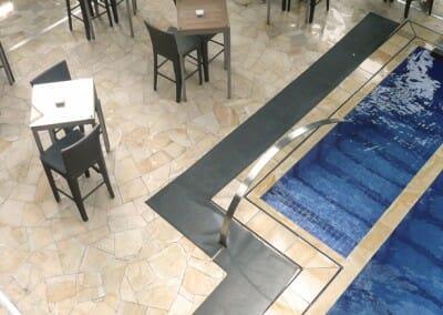 pool paving sandstone crazy paving
