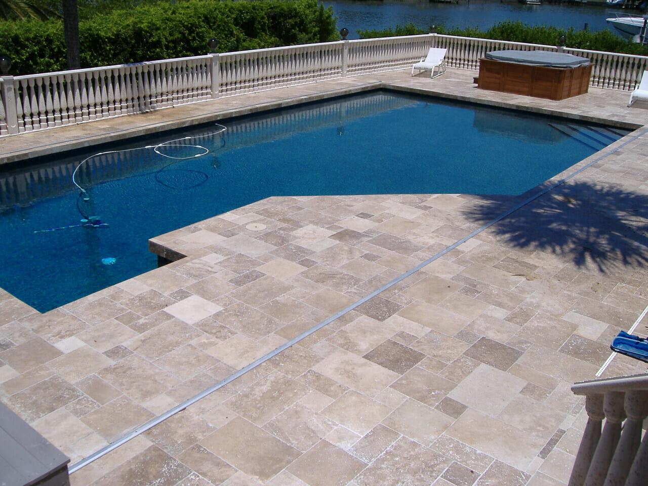 Pool Coping tiles travertine
