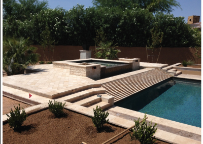 ivory travertine-pool-tiles-and-coping