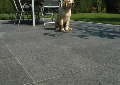 Midnight Granite flamed outdoor pavers
