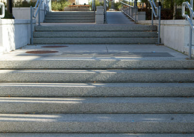 Dove White Granite exfoliated steps Non Slip Surface