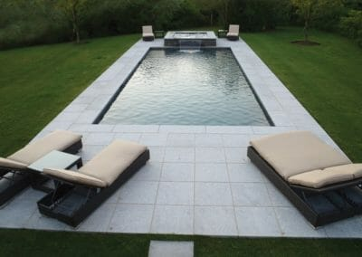 Dove White Granite Pool Coping Bullnose and Paving
