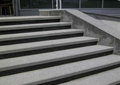 Raven Grey Granite Step Treads Outdoors
