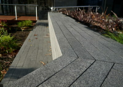 Midnight Granite Pavers outdoors