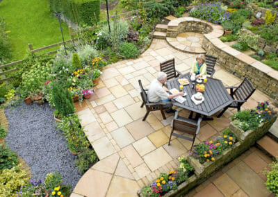 French Pattern Natural Split Himalayan Sandstone Pavers Outdoors