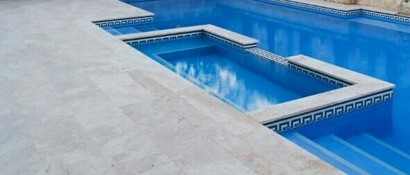 Ivory Square Edge Pool Coping