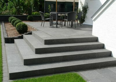 Midnight Granite Pavers Step Treads