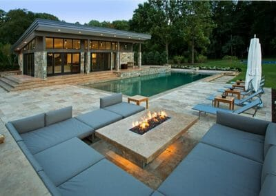 Noce Unfilled and Tumbled Travertine Outdoor pavers