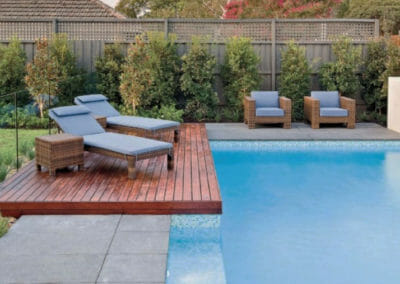 Raven Grey Granite pavers outdoors around pool Non Slip Surface