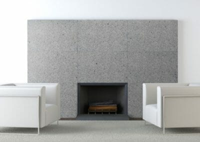 Stone Cladding Dove White Granite Indoors