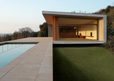 Honed and Smooth Sandstone Pool and Sandstone Pool House