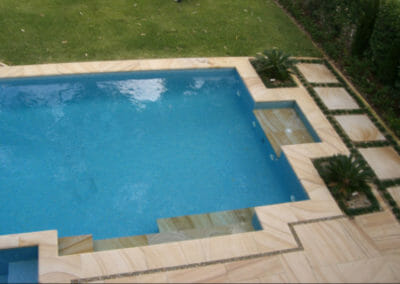 Teakwood Sandstone Pool Coping Bullnose and Paving