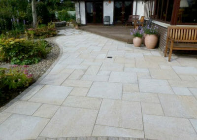 Summer Gold Granite Pavers French Pattern Outdoors