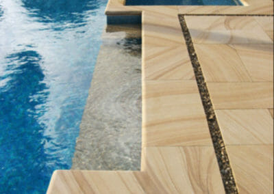 Teak Bullnose Pool Coping Tiles