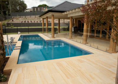 Teakwood Sandstone Pool Pavers and Coping