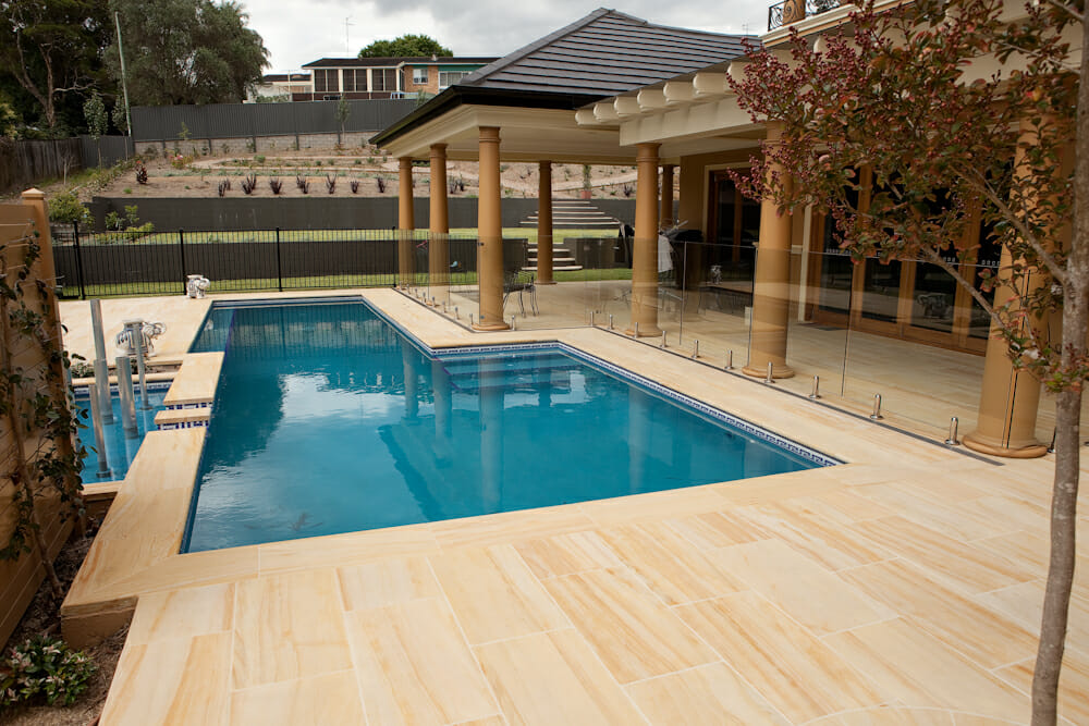 sandstone pool coping