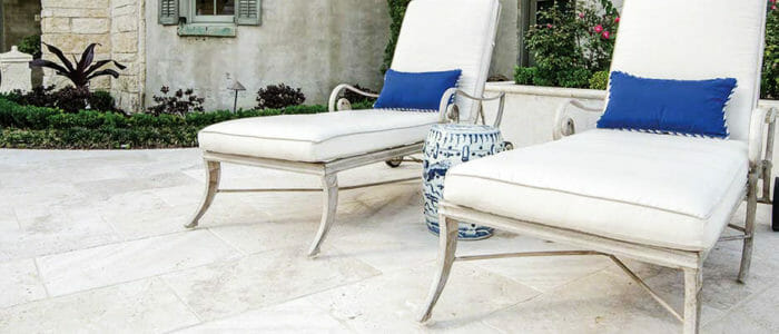 shell white travertine