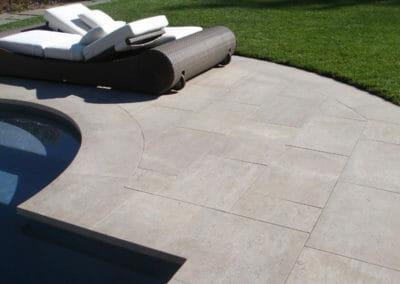Curved Bluestone Pool Coping
