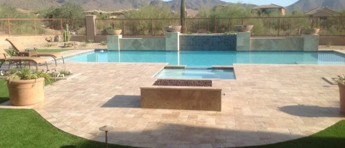 Noce french pattern travertine