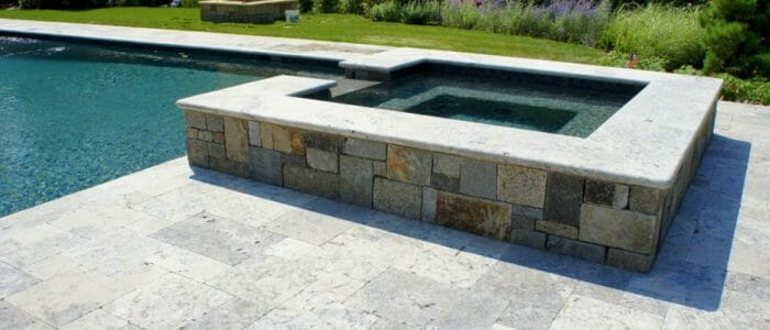 silver travertine pool coping tile prices