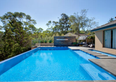 Harkaway Bluestone Sawn & Lightly Honed Pavers square edge pool coping tiles