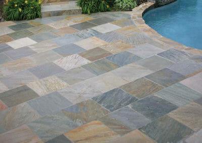 Brazil quartzite pool pavers