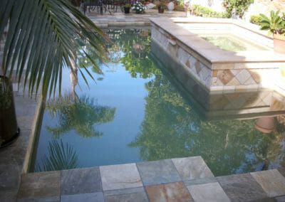 Brazillian quartzite pool pavers and coping tiles