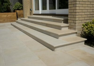 Himalayan Sandstone Tiles and step treads with a honed surface