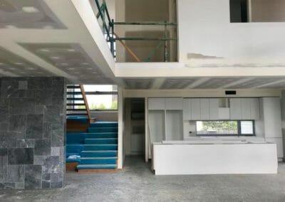 Pearl Grey Limestone indoors Laid
