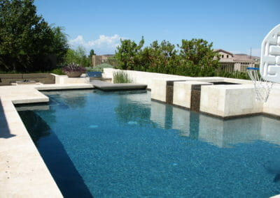 shell white travertine Modern Pool Coping Tiles
