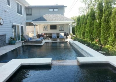 capri white travertine contemporary pool