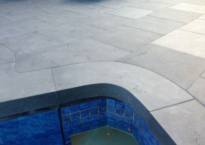 Harkaway Bluestone Sawn & Lightly Honed Pavers Custom Made Curved Coping