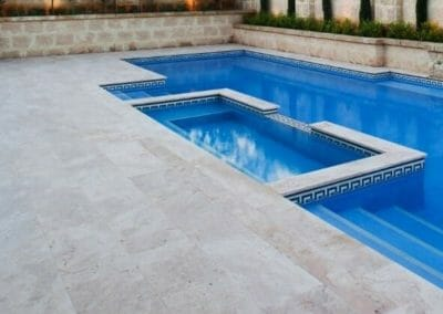 Ivory-Travertine-pool-coping-tiles-and-pool-pavers